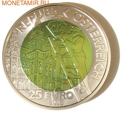 """Австрия 25 евро 2008.""""Искусственное освещение"""". (фото, вид 1)"""