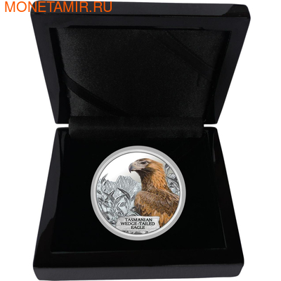 Тувалу 1 доллар 2012 Тасманийский клинохвостый орел - Исчезающие виды.Арт.60 (фото, вид 2)