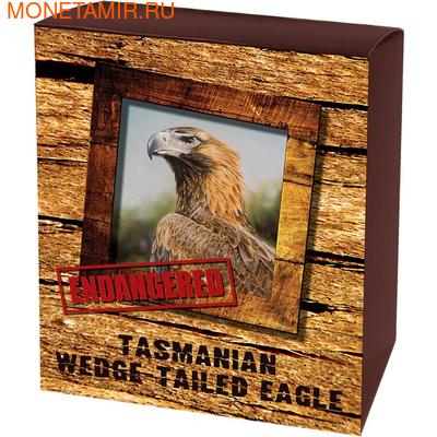 Тувалу 1 доллар 2012 Тасманийский клинохвостый орел - Исчезающие виды.Арт.60 (фото, вид 3)