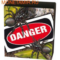 Тувалу 1 доллар 2012 Паук Ядовитый Воронковый серия Смертельно Опасные (Tuvalu 1$ 2012 Deadly Dangerous Funnel Web Spider).Арт.000342240960/60 (фото, вид 3)