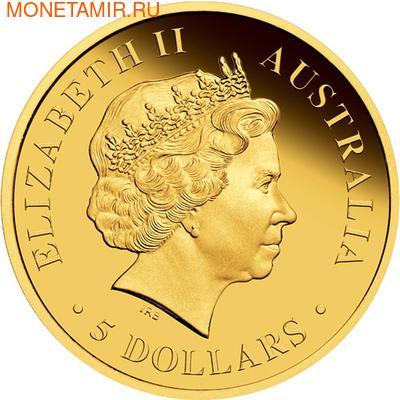 Австралия 5 долларов 2012.Золотая серия - Открой Австралию - Литория.Арт.60 (фото, вид 1)