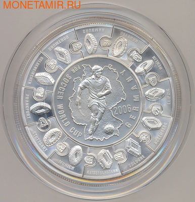 Либерия 100 долларов 2006 Футбол Чемпионат Мира Германия 2006 (Пазл).Арт.009054240302/60 (фото, вид 2)