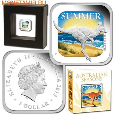 Австралия 1 доллар 2013. Времена года - лето. Кенгуру (фото, вид 1)