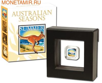 Австралия 1 доллар 2013. Времена года - лето. Кенгуру (фото, вид 2)