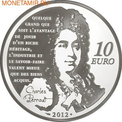 Франция 10 евро 2012. Кот в сапогах - Великие характеры французской литературы. (фото, вид 1)