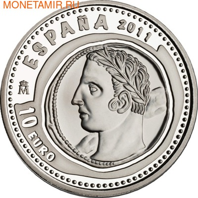 Сокровища нумизматики-Слон. Испания 10 евро 2011. (фото, вид 1)