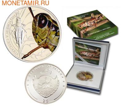 Палау 2 доллара 2010.Пустынная саранча - Мир насекомых.Арт.000140041250/60 (фото, вид 2)