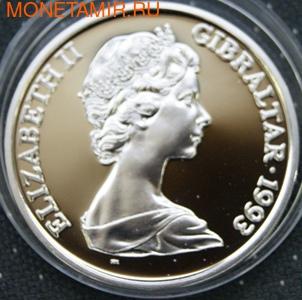Гибралтар 1 крона 1993. Елизавета II. (фото, вид 1)