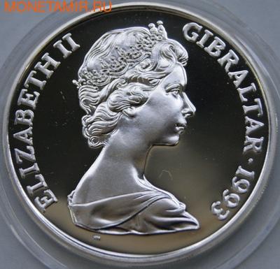 Гибралтар 1 крона 1993. King George VI. (фото, вид 1)
