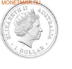 "Австралия 1 доллар 2010. Австралийские Антарктическиее территории: ""Хаски"". (фото, вид 1)"
