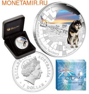 "Австралия 1 доллар 2010. Австралийские Антарктическиее территории: ""Хаски"". (фото, вид 2)"
