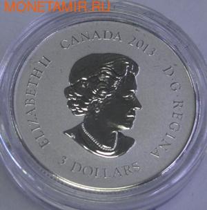 Канада 3 доллара 2013. Колибри (фото, вид 1)
