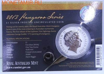 Кенгуру. (Буклет). Австралия 1 доллар 2013. (фото, вид 1)