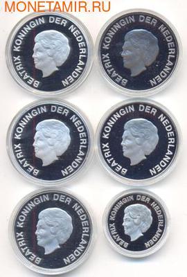 "Набор монет ""Животные Арубы"". Аруба. 2001-2007 5 х 10 флоринов, 5 флоринов. Арт: 001200042336 (фото, вид 1)"
