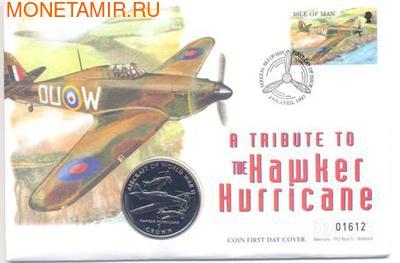 Остров Мэн 1 крона 1995.Хоукер Харрикейн (Hawker Hurricane) - Самолеты II Мировой Войны (Конверт).Арт.000023141693/60 (фото, вид 2)