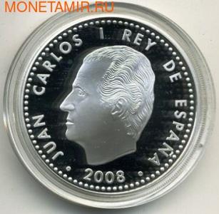 """Испания 10 евро 2008. Альфонс Х .""""Мудрый"""" (фото, вид 1)"""