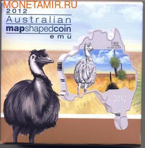 Материк. Страус Эму. Австралия 1 доллар 2012. (фото, вид 2)