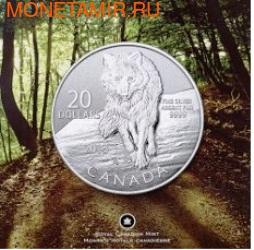 Канада 20 долларов 2013. Волк (фото, вид 2)