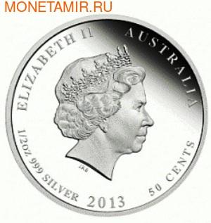 Австралия 50 центов 2013. «Волнистый попугайчик» – серия «Птицы Австралии».Арт.000172742833 (фото, вид 1)