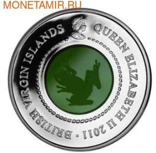 Британские Виргинские Острова 10 долларов 2011.Лягушка (кристалл).Арт.000204642794/60 (фото, вид 1)