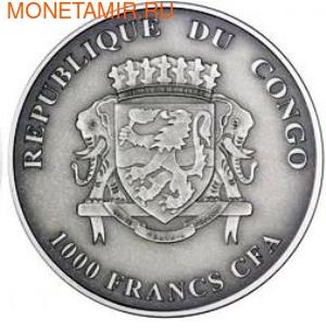 Конго 1000 франков 2012.Носорог.Арт.000385342421/60 (фото, вид 1)