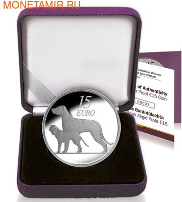 Ирландия 15 евро 2012. Ирландский волкодав . Ирландия 15 евро 2012. (фото, вид 2)