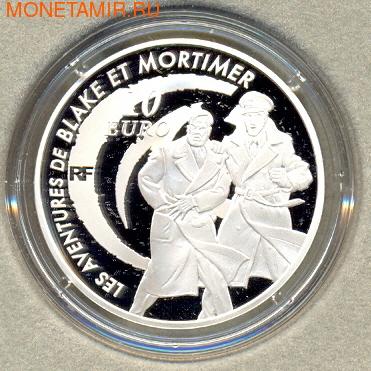 Франция 10 евро 2010. Блейк и Мортимер (фото, вид 1)