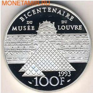 Франция 100 франков 1993. Мона Лиза (фото, вид 1)