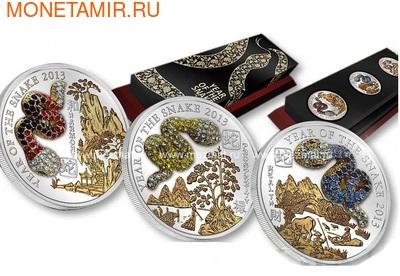 Набор монет- Год Змеи 3D. Арт: 001643743238 (фото, вид 3)