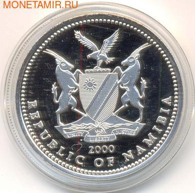Намибия 10 долларов 2000.Львы - 10 годовщина республики Намибия.Арт.000200043437/60 (фото, вид 1)