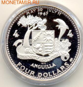 """Ангилья 4 доллара 1970. """"Атлантическая звезда"""" (фото, вид 2)"""