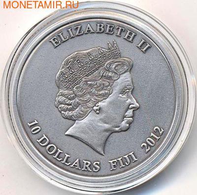 Фиджи 10 долларов 2012. Выдра. (фото, вид 1)