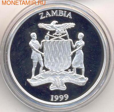 Слоны. Замбия 5000 квача 1999. (фото, вид 1)