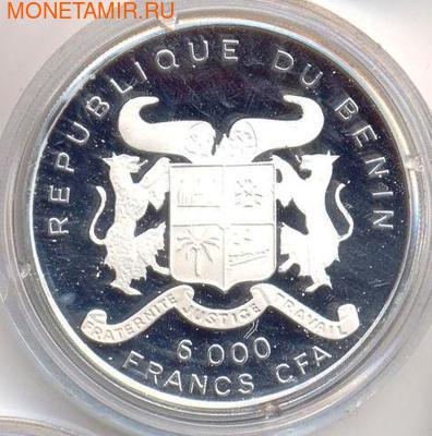 Слон. Бенин 6000 франков 1993. (фото, вид 1)