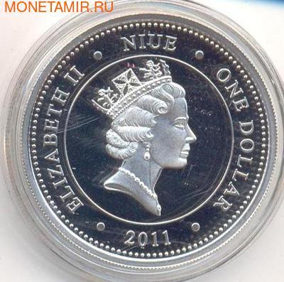 Слон. Ниуэ 1 доллар 2011. (фото, вид 1)