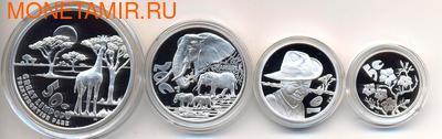 Южная Африка 85 центов 2011 Животные Парка Мира Набор 4 монеты (South Africa 85c 2011 Peace Parks Great Limpopo 4 coin Prestige Set).Арт.002496634917/60 (фото, вид 2)