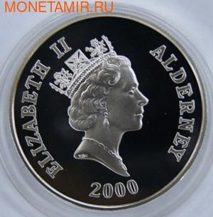 Королева - мать. Елизавета. Олдерни 5 фунтов 2000. (фото, вид 1)