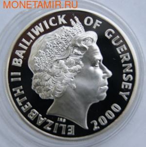 100-летие Королевы-матери. Гернси 5 фунтов 2000. (фото, вид 1)
