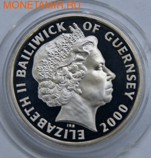 100-летие Королевы-матери. Гернси 1 фунт 2000. (фото, вид 1)
