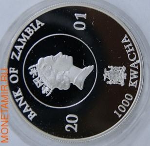 75-летие Елизаветы II. Замбия 1000 квачей 2001. (фото, вид 1)