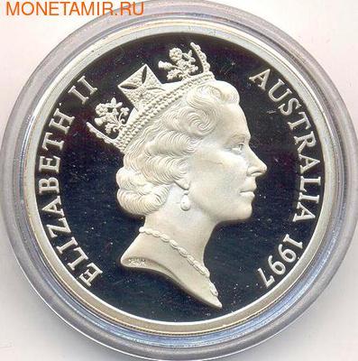 Паровой трактор. Австралия 5 долларов 1997. (фото, вид 1)