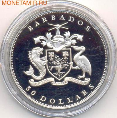 Здание Парламента. Барбадос 50 долларов 1989. (фото, вид 1)