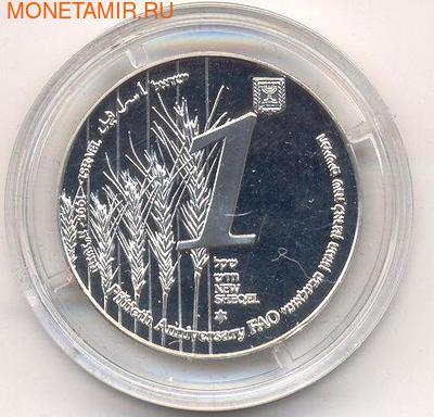 50-летие F.A.O. (Продовольственная и сельскохозяйственная организация ООН). Израиль 1 шекель 1995. (фото, вид 1)