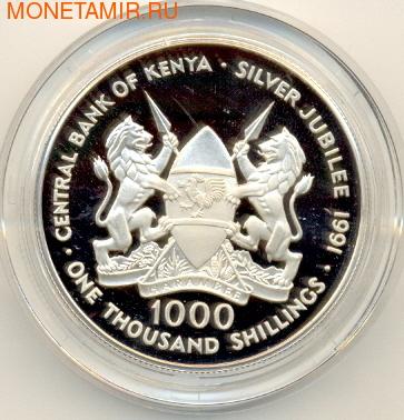 Даниель Торотич Арап. Кения 1000 шиллингов 1991. (фото, вид 1)