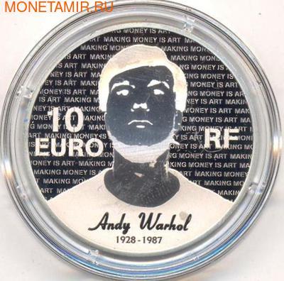 Франция 10 евро 2011. Энди Уорхол. (фото, вид 1)