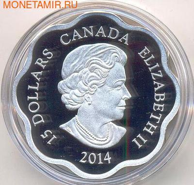 Канада 15 долларов 2014. Год Лошади. (фото, вид 1)