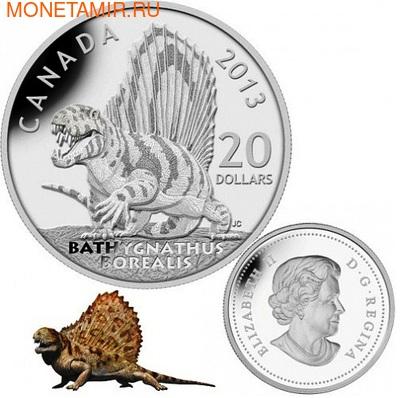Канада 20 долларов 2013.Динозавр - Батигнат серия Канадские динозавры.Арт.000260843936 (фото, вид 1)