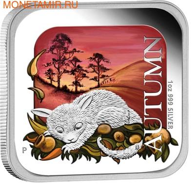 Австралия 1 доллар 2013. Времена года - осень. Опоссум. (фото, вид 1)