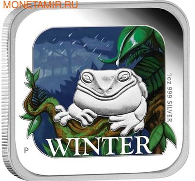 Австралия 1 доллар 2013. Времена года - зима. Лягушка (фото, вид 1)