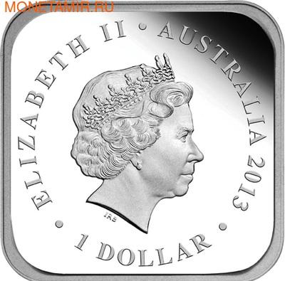 Австралия 1 доллар 2013. Времена года - зима. Лягушка (фото, вид 2)